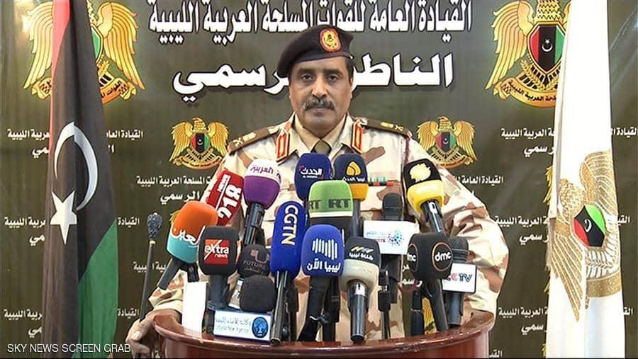 الجيش الليبى يتهم ميليشيات الوفاق بخرق وقف إطلاق النار الذى أقره مجلس الأمن الدولى
