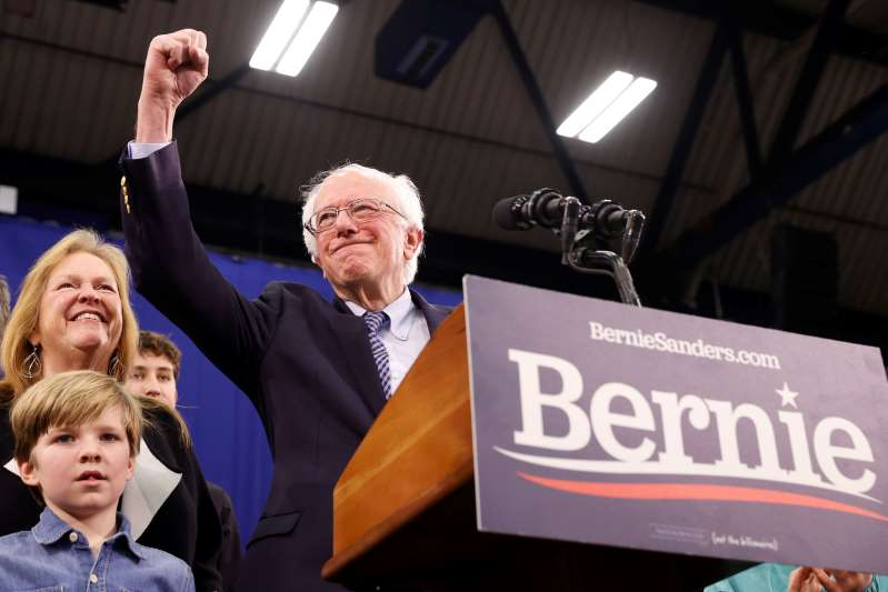 ساندرز يفوز بالكاد في انتخابات الديمقراطيين في نيوهامبشير وبايدن الخامس