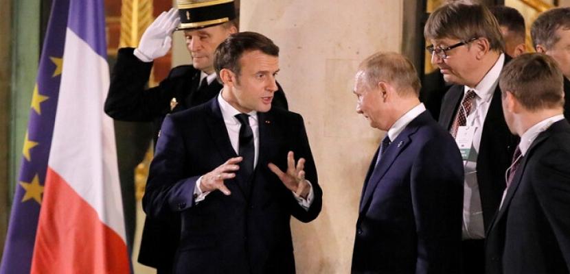 ماكرون يأمل فى الحصول على دعم بوتين لهدنة عالمية دعت إليها الأمم المتحدة