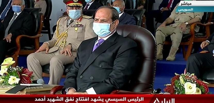 """الرئيس السيسي يفتتح نفق """"الشهيد أحمد حمدي 2"""""""