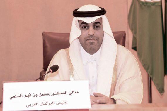 رئيس البرلمان العربي يدين إطلاق ميليشيا الحوثي الانقلابية طائرات مفخخة وصواريخ باليستية باتجاه أراضي المملكة العربية السعودية