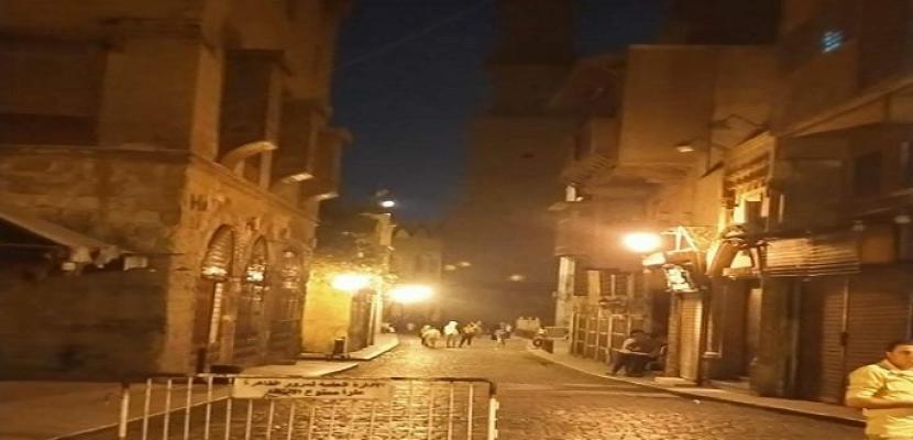بدء أعمال تطوير ورفع كفاءة إضاءة شارع المعز لدين الله الفاطمي