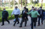 وزير الرياضة يقوم بجولة تفقدية فى مركز شباب الجزيرة تمهيداً لعودة النشاط