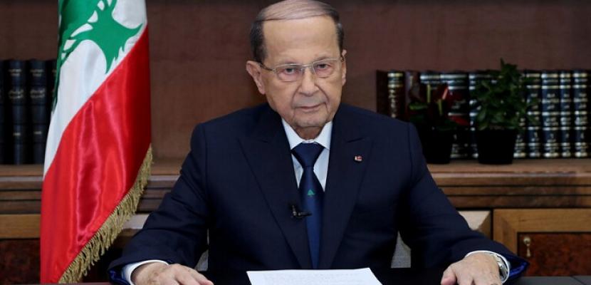 الرئيس اللبناني يطلب سرعة محاصرة وإخماد حرائق الغابات ومنع امتدادها للمنازل