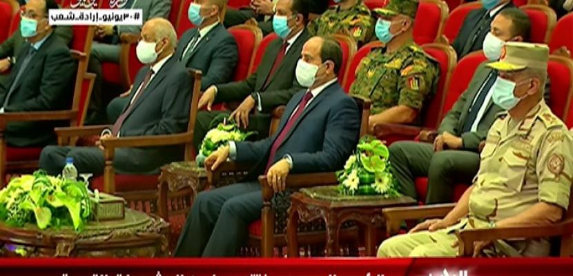 الرئيس السيسى يفتتح مشروعات تطوير منطقة شرق القاهرة وقصر البارون ومطارى العاصمة وسفنكس