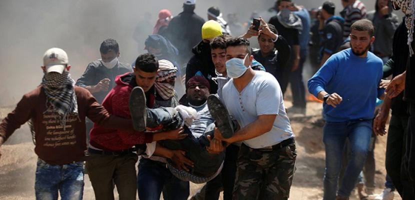 إصابة عشرات الفلسطينيين بالاختناق خلال مواجهات مع الاحتلال في طولكرم نه رب