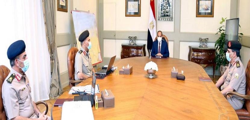 الرئيس السيسي يوجه بالحفاظ على الكفاءة وأعلى درجات الجاهزية والاستعداد القتالي لحماية أمن مصر القومي