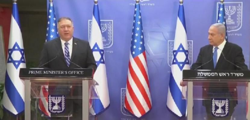 خلال مؤتمر صحفي مع نتنياهو .. بومبيو يؤكد أن إيران لن تحصل على السلاح النووي