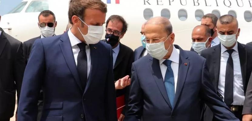 الرئيس الفرنسي يصل إلى بيروت في زيارة رسمية لدفع العملية السياسية في لبنان