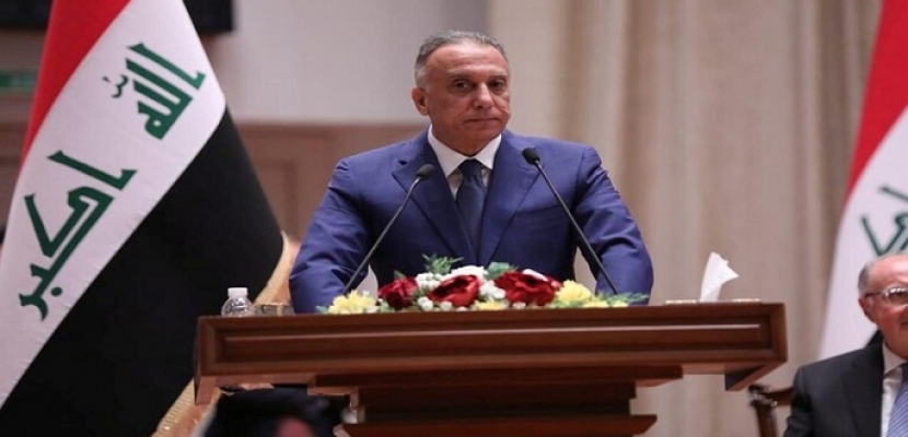 """الكاظمي: """"تحالف الفساد والسلاح المنفلت"""" لا مكان له في العراق"""