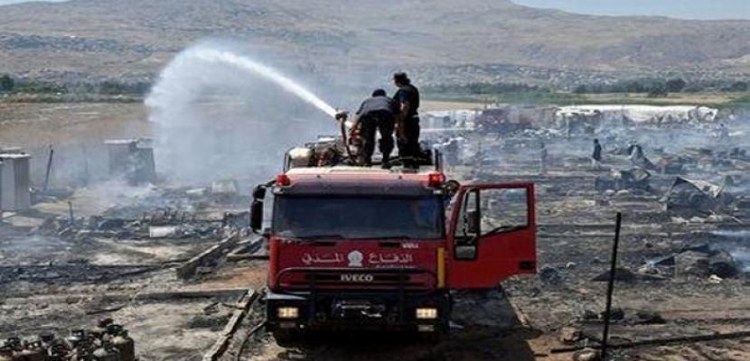 اندلاع حرائق في أكبر مخيم للاجئين باليونان .. و25 رجل إطفاء لإخلائه