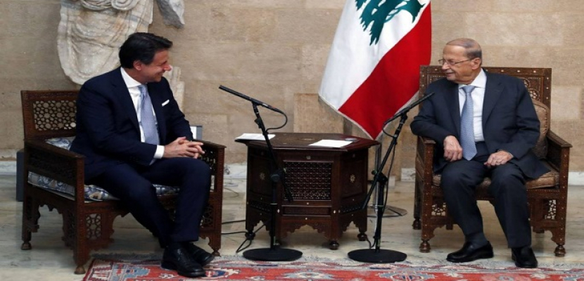 رئيس وزراء إيطاليا يلتقي ميشال عون.. ويؤكد أهمية تشكيل الحكومة اللبنانية سريعا