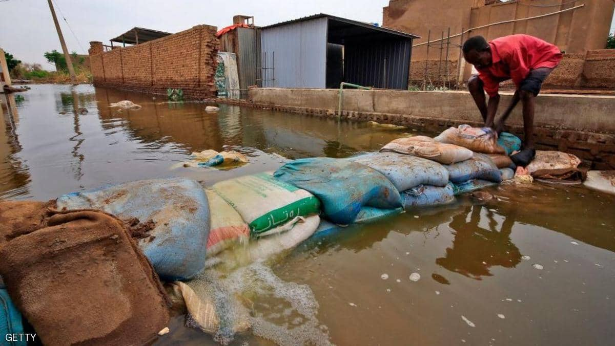 ارتفاع حصيلة ضحايا فيضانات السودان..  ودمار هائل بالمنازل