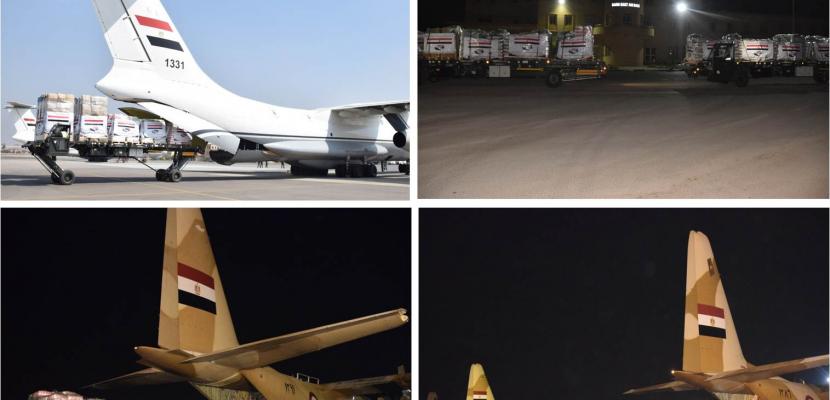 مصر تواصل فتح الجسر الجوي لنقل المساعدات لمتضرري السيول بالسودان وجنوب السودان