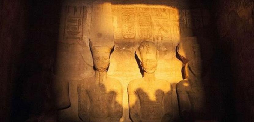 قصور الثقافة تحتفل بتعامد الشمس على وجه تمثال رمسيس الثاني