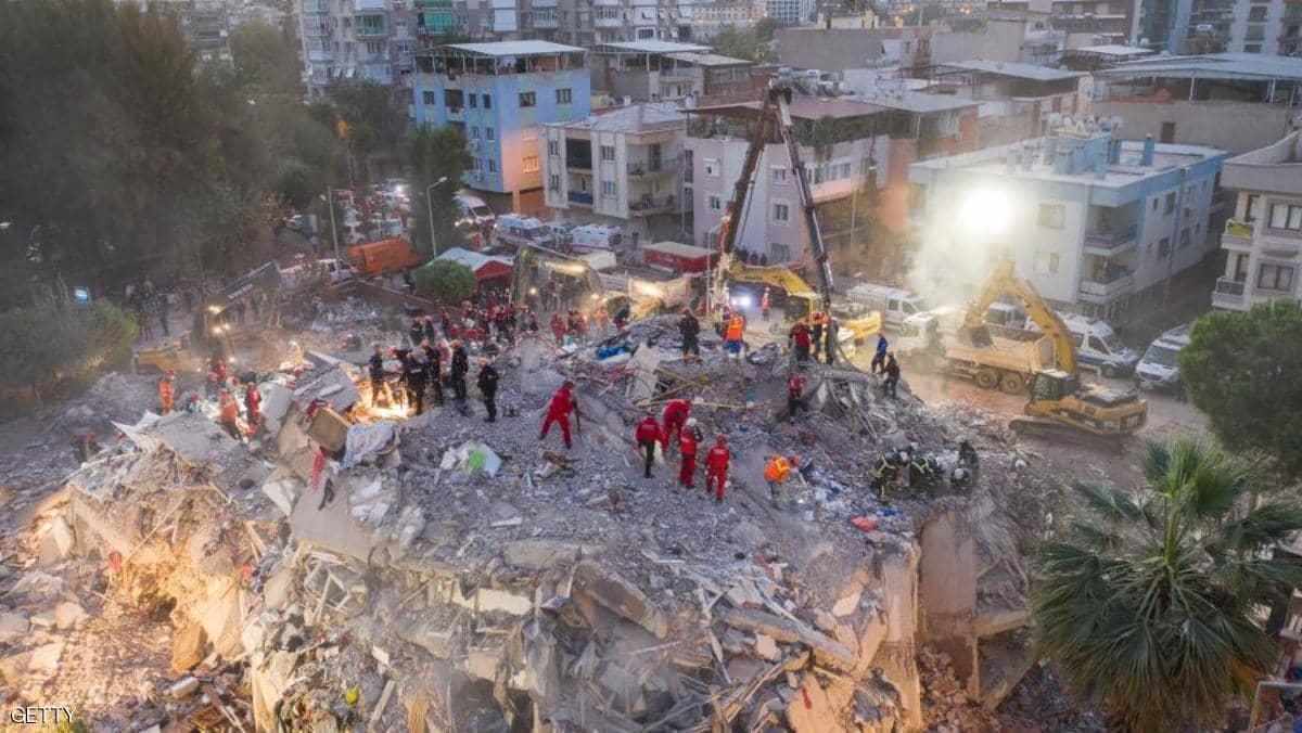 زلزال بحر إيجة.. ارتفاع عدد القتلى واستمرار البحث عن ناجين