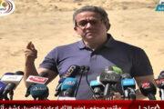 وزير السياحة والآثار يعلن الكشف عن 59 تابوتاً مغلقاً للكهنة وكبار الموظفين من الأسرة الـ26