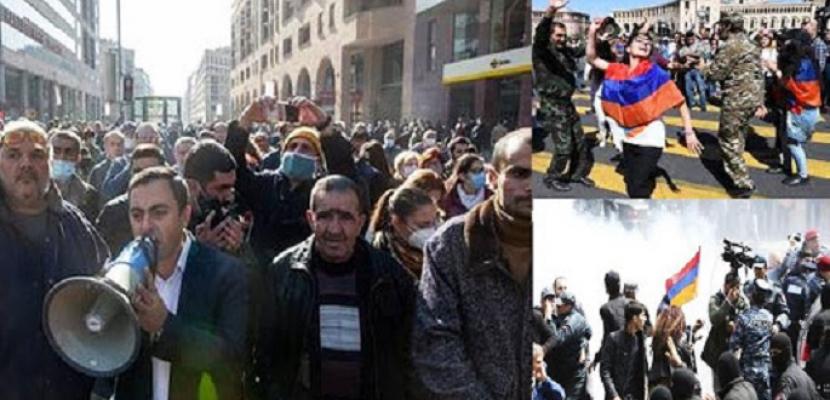تجدد المظاهرات الاحتجاجية المطالبة بتنحي رئيس الوزراء في أرمينيا