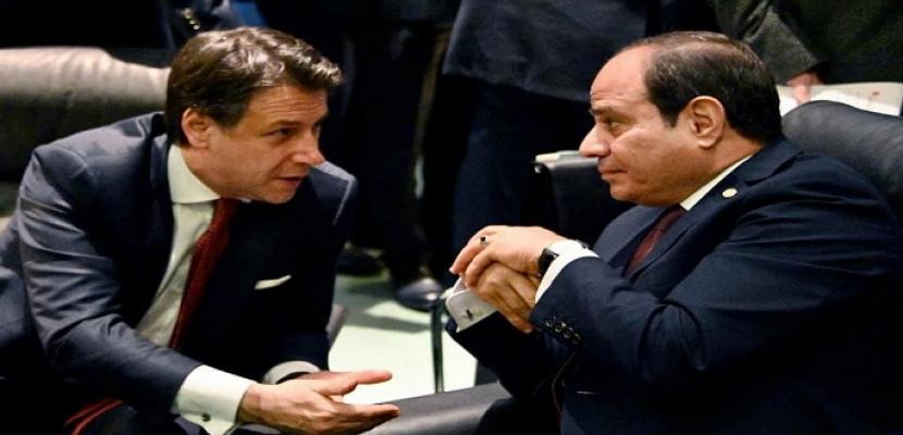الرئيس السيسي يبحث هاتفيا مع رئيس الوزراء الإيطالي العلاقات العسكرية والاقتصادية بين البلدين