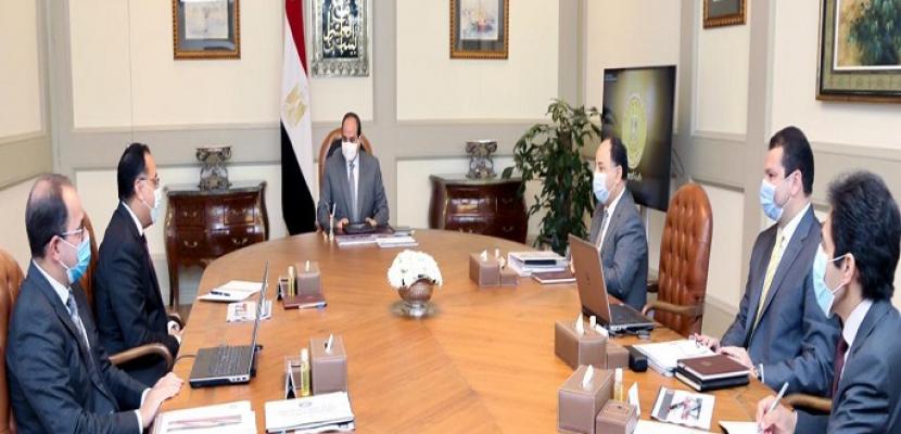 الرئيس السيسي يوجه بالاستمرار في تعزيز إجراءات الدولة المالية للتعامل مع تحديات كورونا