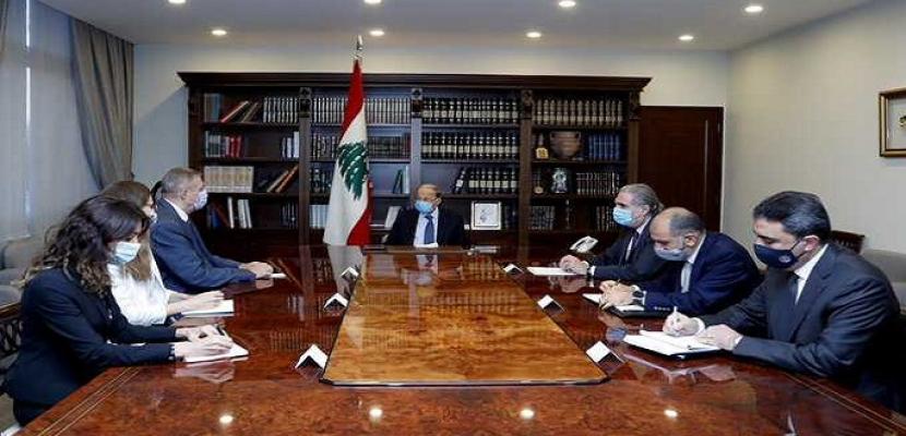 الرئيس اللبناني يبحث مع مسئول أممي المساعدات الدولية ومسار تشكيل الحكومة الجديدة