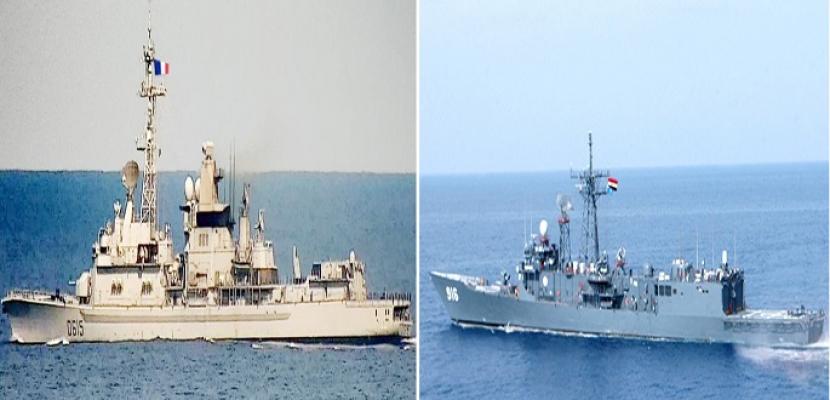 القوات البحرية المصرية والفرنسية تنفذان تدريبا بحريا عابرا بنطاق الأسطول الشمالى بالبحر المتوسط
