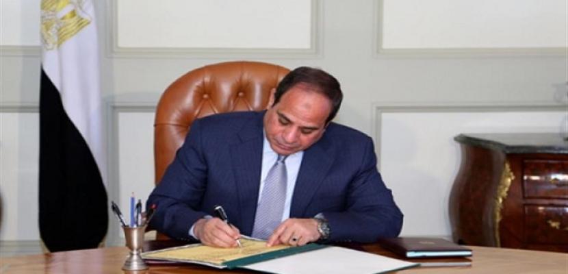 الرئيس السيسى يتسلم أوراق اعتماد 24 سفيراً جديداً