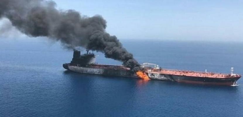 """""""ناجم عن مصدر خارجى"""" .. انفجار بناقلة نفط بريطانية في ميناء جدة بالسعودية"""