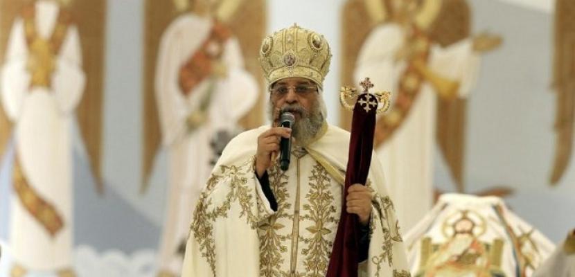 البابا تواضروس يترأس اليوم قداس عيد الميلاد المجيد دون حضور شعبي