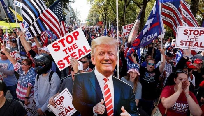 احتجاجات مؤيدة لترامب بمحيط الكونجرس