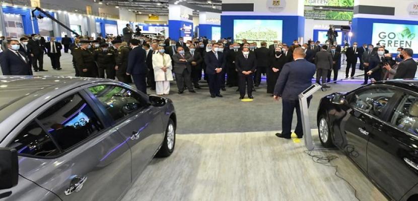 الرئيس السيسي يفتتح المعرض الأول لتكنولوجيا تحويل وإحلال المركبات للعمل بالطاقة النظيفة