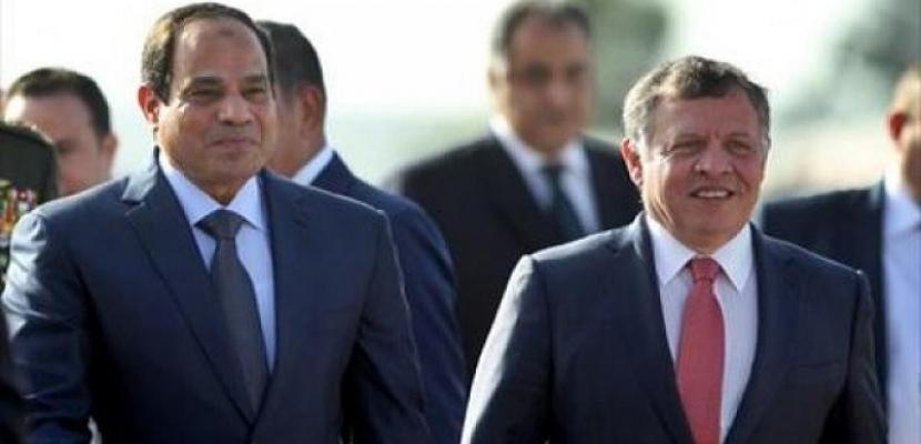 بدء أعمال القمة الثنائية بين الرئيس السيسي وملك الأردن في عمان