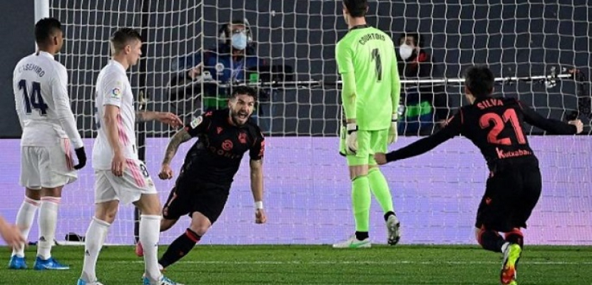 ريال مدريد يتعثر أمام ريال سوسيداد ويتقاسم الوصافة مع برشلونة