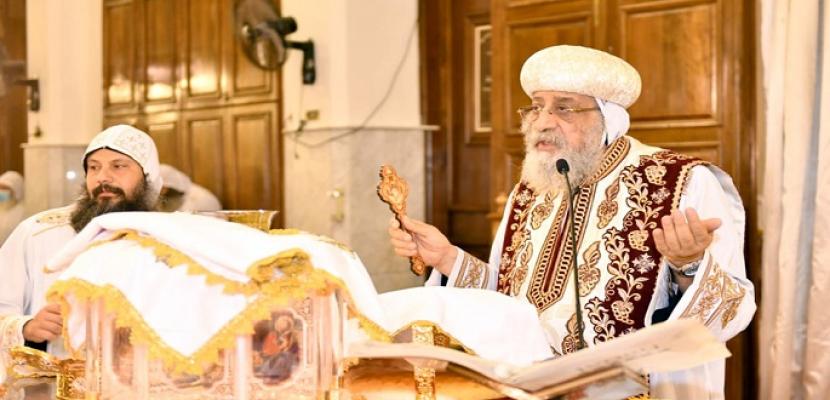 """البابا تواضروس يصلي قداس """"شم النسيم"""" في دير الأنبا بيشوي بوادي النطرون"""
