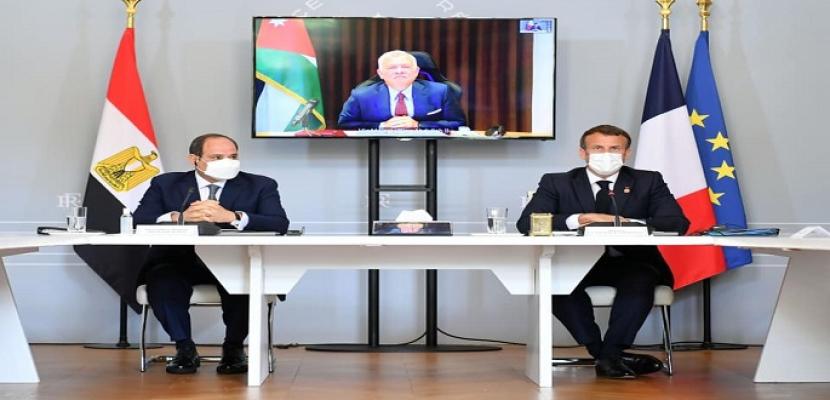 خلال قمة مصرية فرنسية أردنية.. السيسي يعلن عن تقديم مصر 500 مليون دولار لصالح إعادة الإعمار في قطاع غزة