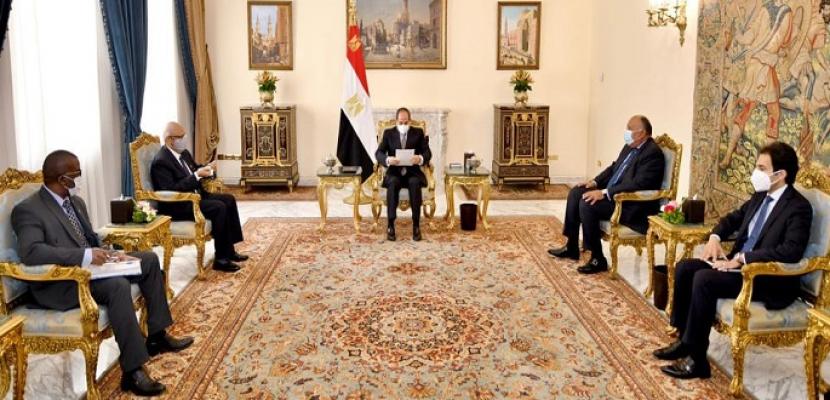 الرئيس السيسي يؤكد خصوصية العلاقات الثنائية المتميزة بين مصر ومالي