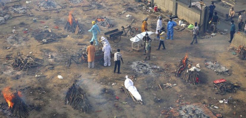 استمرار معدلات الارقام القياسية لضحايا كورونا في الهند لليوم الثاني عشر على التوالي