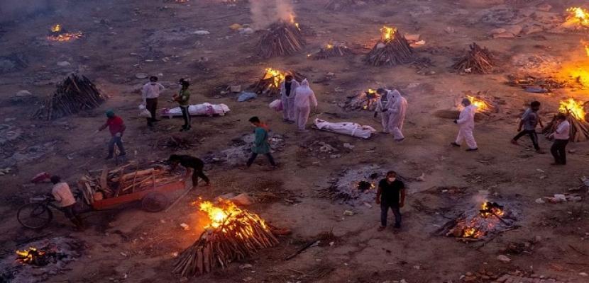تواصل الارقام القياسية لضحايا كورونا فى الهند .. والاصابات تكسر حاجز الـ 20 مليون