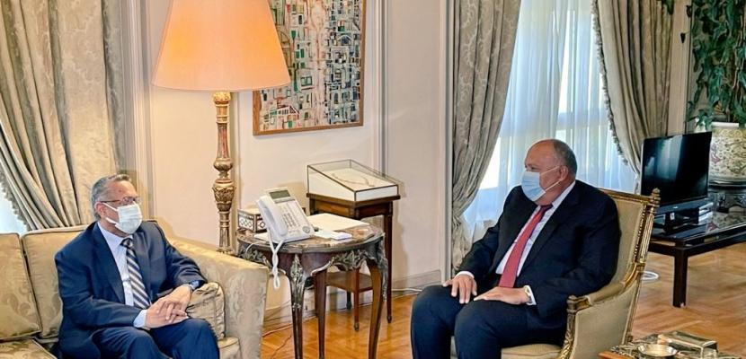 وزير الخارجية يبحث مع رئيس مجلس الشورى اليمني مستجدات الأزمة اليمنية