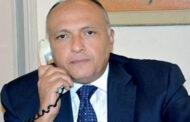 شكري لنظيره الإسرائيلي : يجب إحياء مسار تفاوضي مع الفلسطينيين لتجنيب المنطقة المزيد من التوتر