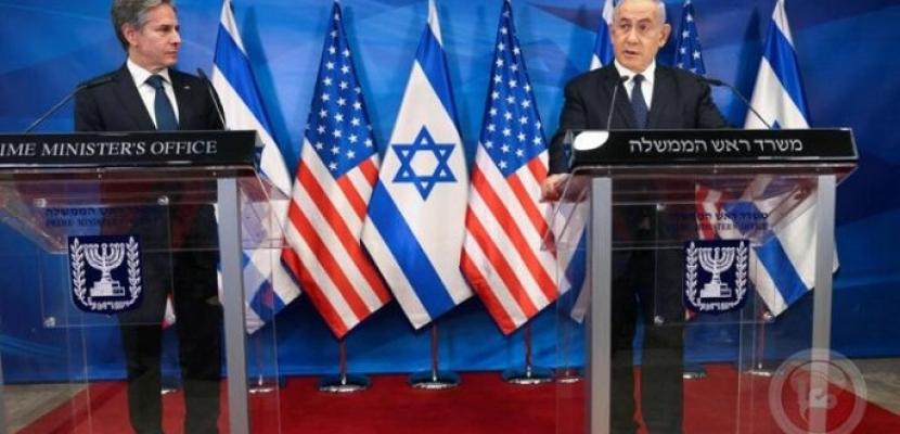 خلال مؤتمر صحفي مع نتنياهو.. بلينكن: نسعى لتثبيت وقف إطلاق النار وتخفيف التوتر في القدس والضفة