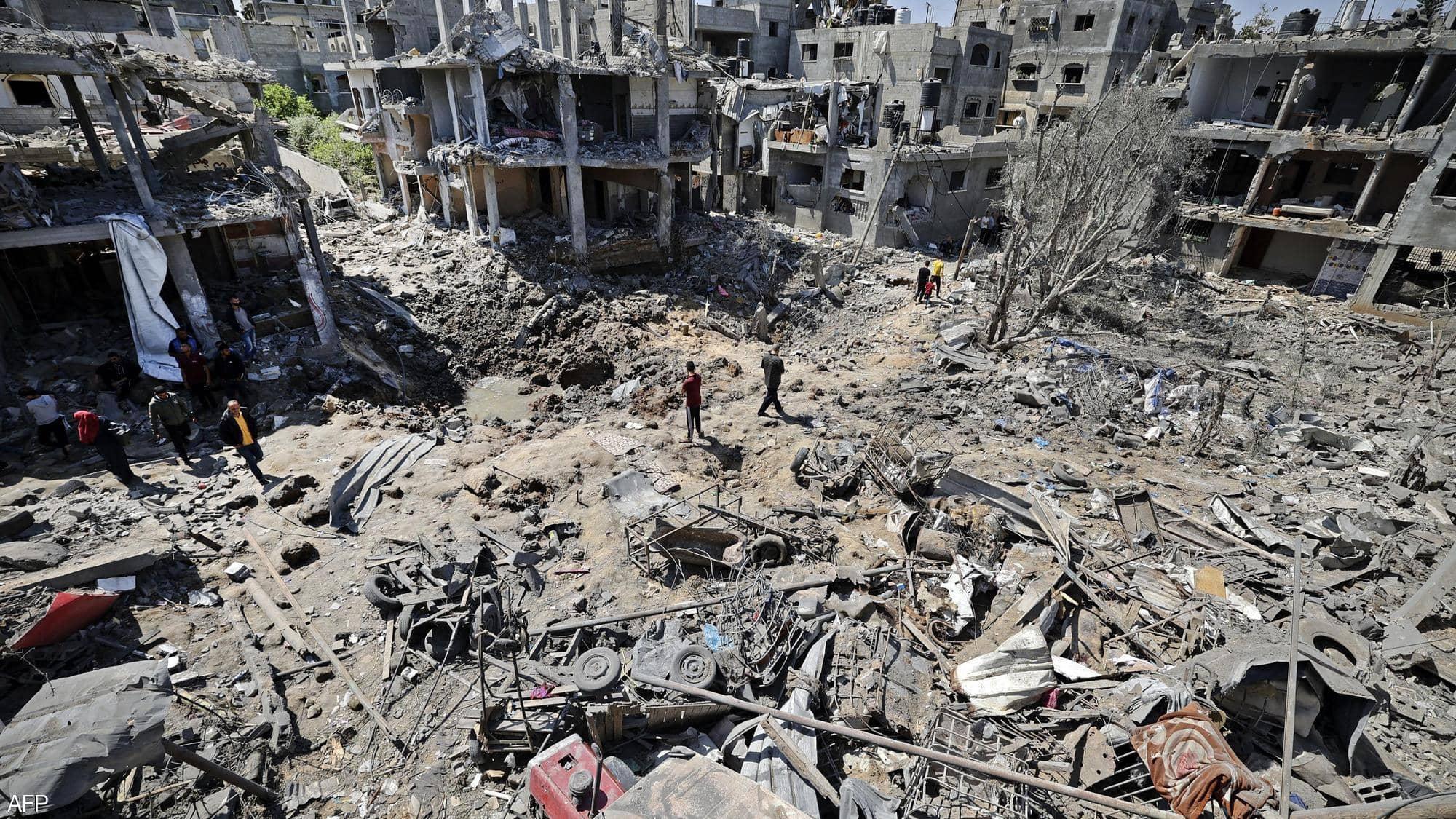 تبادل القصف الصاروخي بين إسرائيل والفصائل الفلسطينية في القطاع والمدن الاسرائيلية