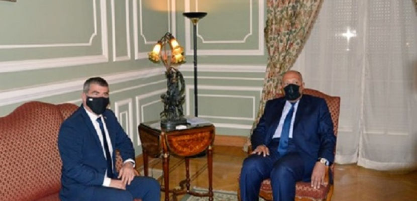 شكرى يعقد مباحثات مع وزير خارجية إسرائيل في إطار مساعى مصر لإحياء مسار السلام