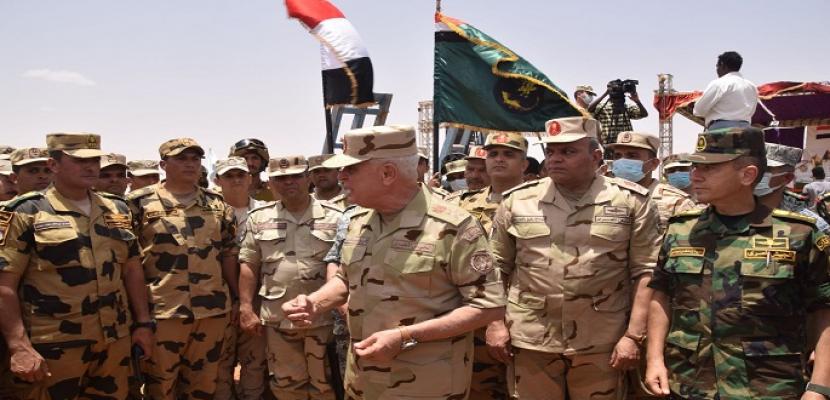 رئيس الأركان يشهد فعاليات ختام التدريب المشترك المصري السوداني (حماة النيل) بالسودان