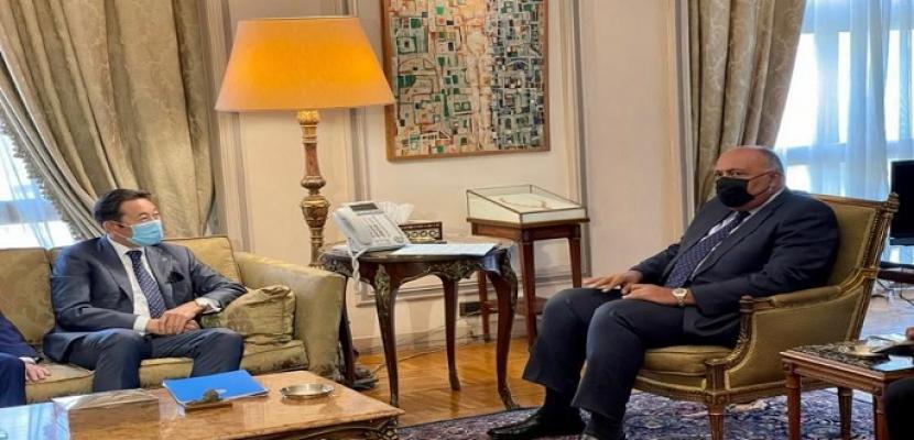 """وزير الخارجية شكري يعرب عن تقديره لدور كازاخستان في تعزيز دور مؤتمر التفاعل وتدابير بناء الثقة في آسيا """"سيكا"""""""