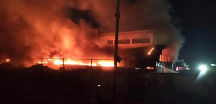 الدفاع المدنى العراقى يخمد حريقا بفندق وسط كربلاء وينقذ 78 نزيلا