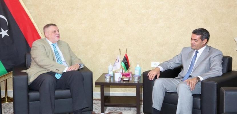 مفوضية الانتخابات الليبية والمبعوث الأممي يبحثان تحضيرات الانتخابات