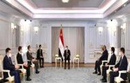 الرئيس السيسي يؤكد حرص مصر على الارتقاء بمستوى الشراكة الاستراتيجية الشاملة مع الصين