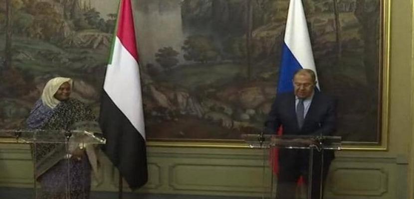 وزير الخارجية الروسي يطالب برفع عقوبات مجلس الأمن عن السودان