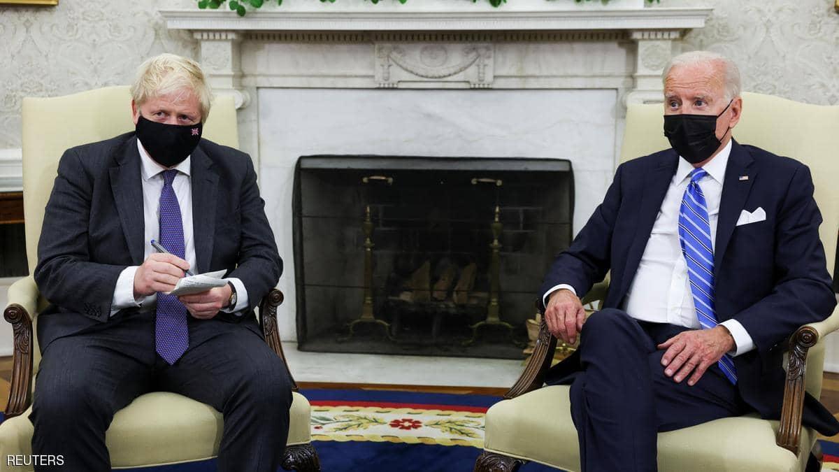 """جونسون وبايدن يتفقان على توحيد موقفهما تجاه روسيا والصين على """"القيم المشتركة"""""""